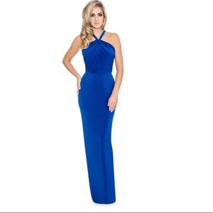NWT Size 0 Decode 1.8 Blue Open Back Slit Gown